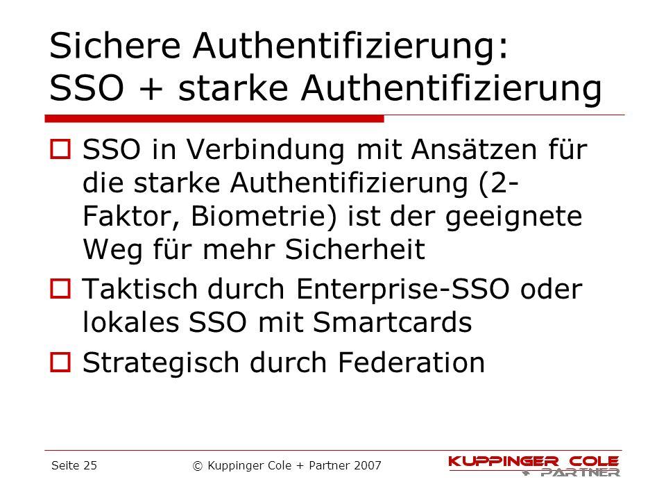 Sichere Authentifizierung: SSO + starke Authentifizierung