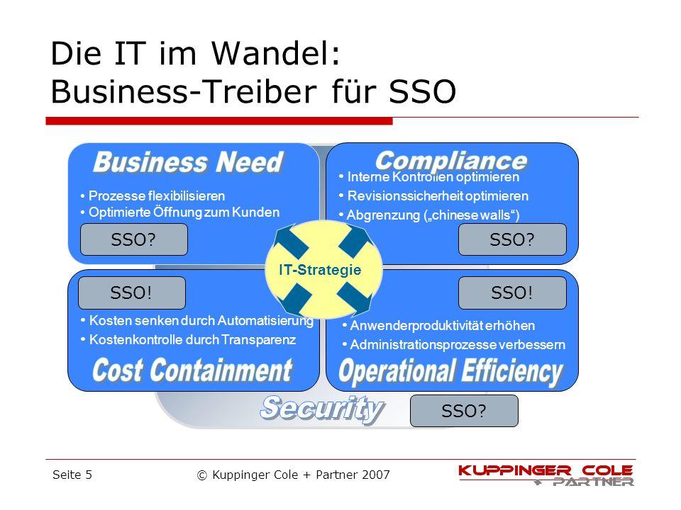 Die IT im Wandel: Business-Treiber für SSO