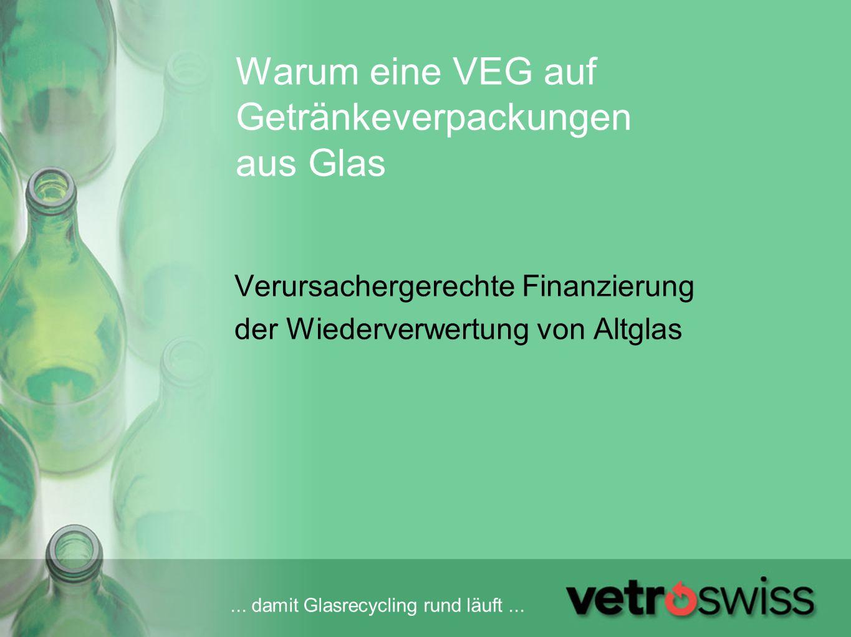 Warum eine VEG auf Getränkeverpackungen aus Glas