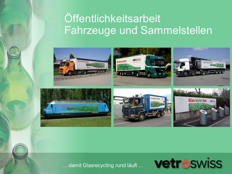 Öffentlichkeitsarbeit Fahrzeuge und Sammelstellen