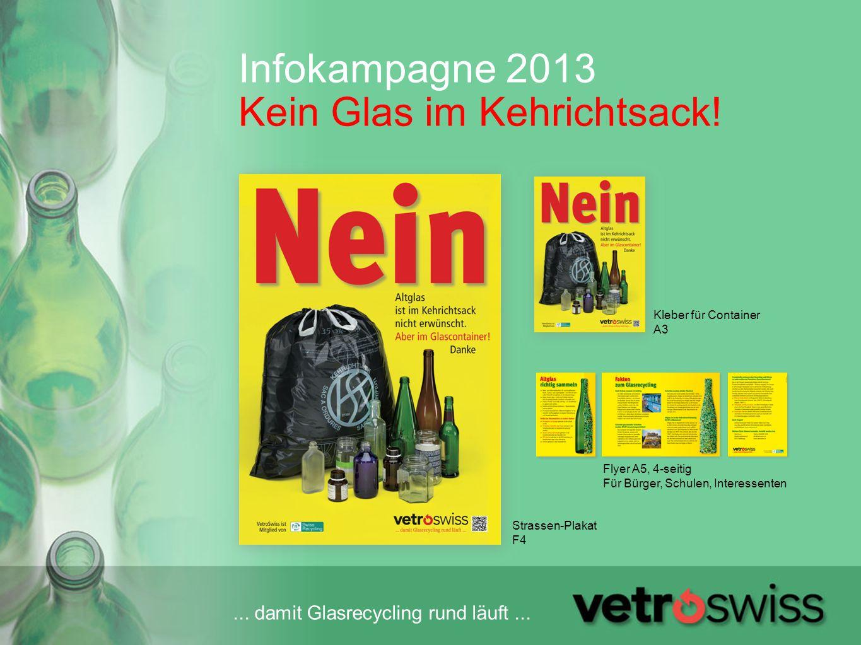 Infokampagne 2013 Kein Glas im Kehrichtsack!