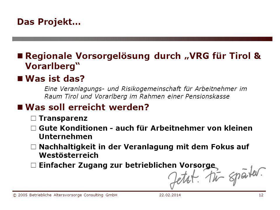 """Regionale Vorsorgelösung durch """"VRG für Tirol & Vorarlberg"""