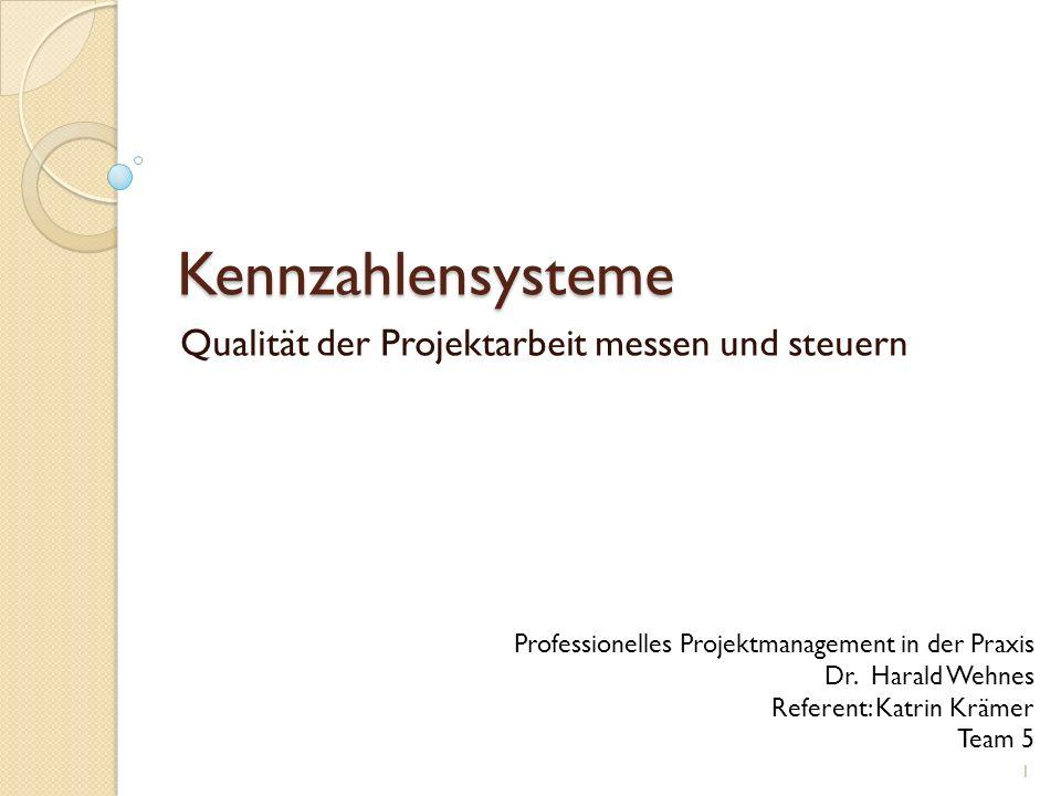Qualität der Projektarbeit messen und steuern
