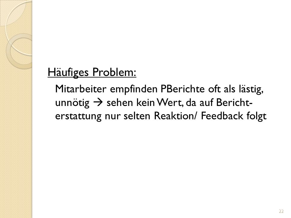 Häufiges Problem: