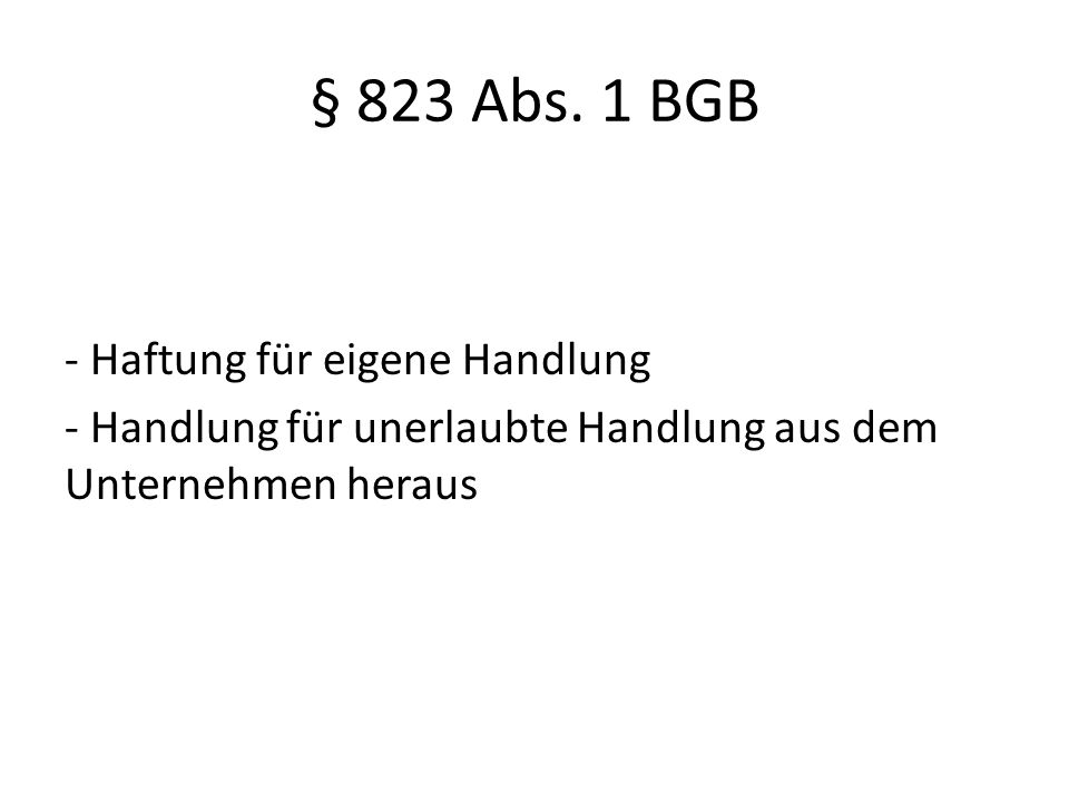 § 823 Abs.
