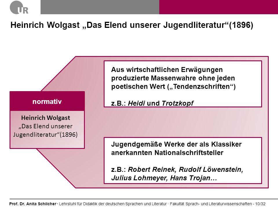 """Heinrich Wolgast """"Das Elend unserer Jugendliteratur (1896)"""