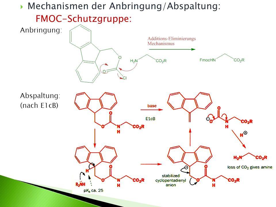 Mechanismen der Anbringung/Abspaltung: