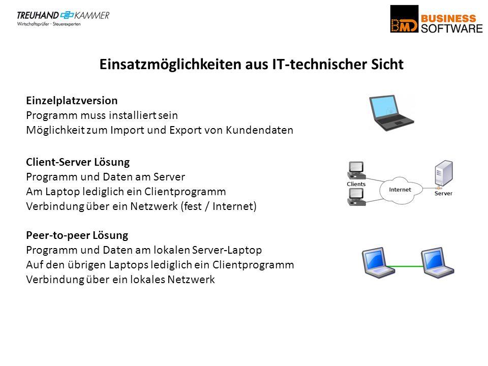 Einsatzmöglichkeiten aus IT-technischer Sicht