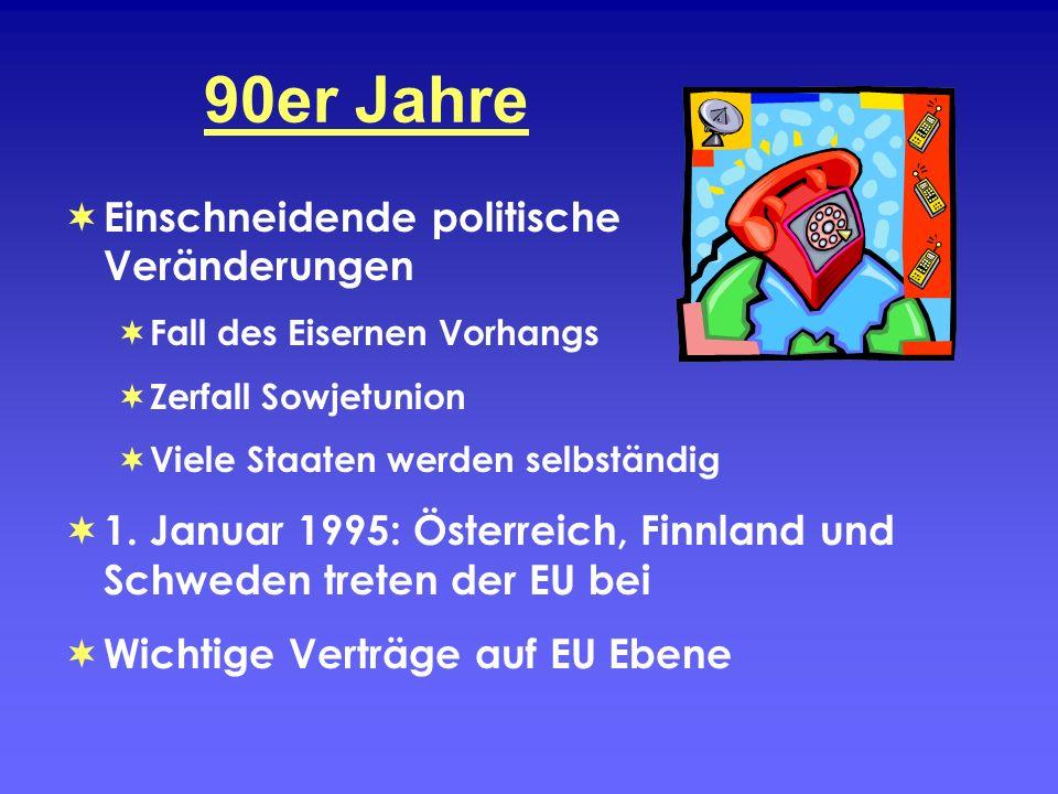 90er Jahre Einschneidende politische Veränderungen
