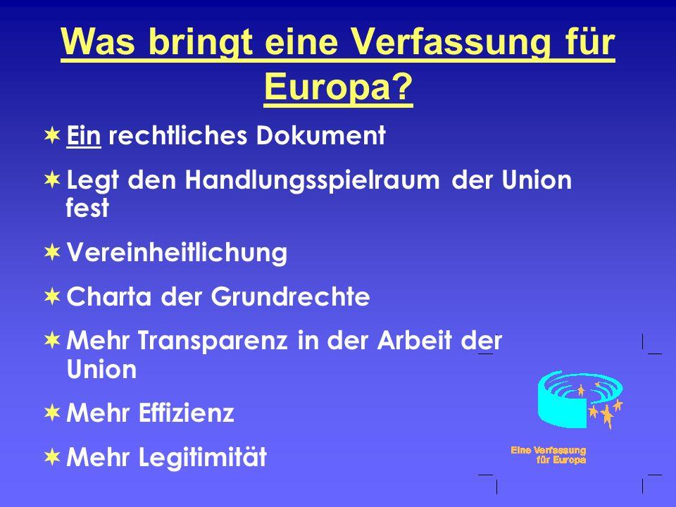 Was bringt eine Verfassung für Europa