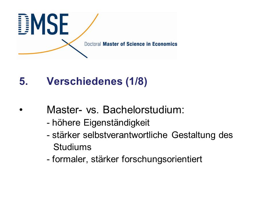 Master- vs. Bachelorstudium: