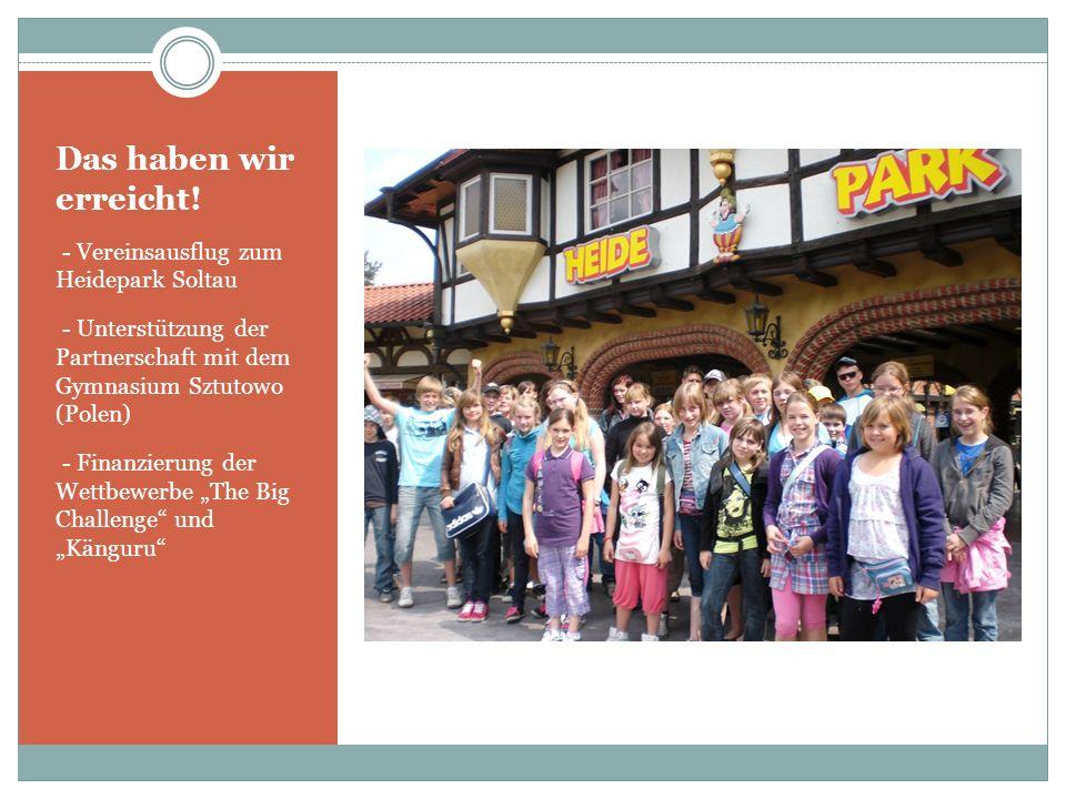 Das haben wir erreicht! - Vereinsausflug zum Heidepark Soltau