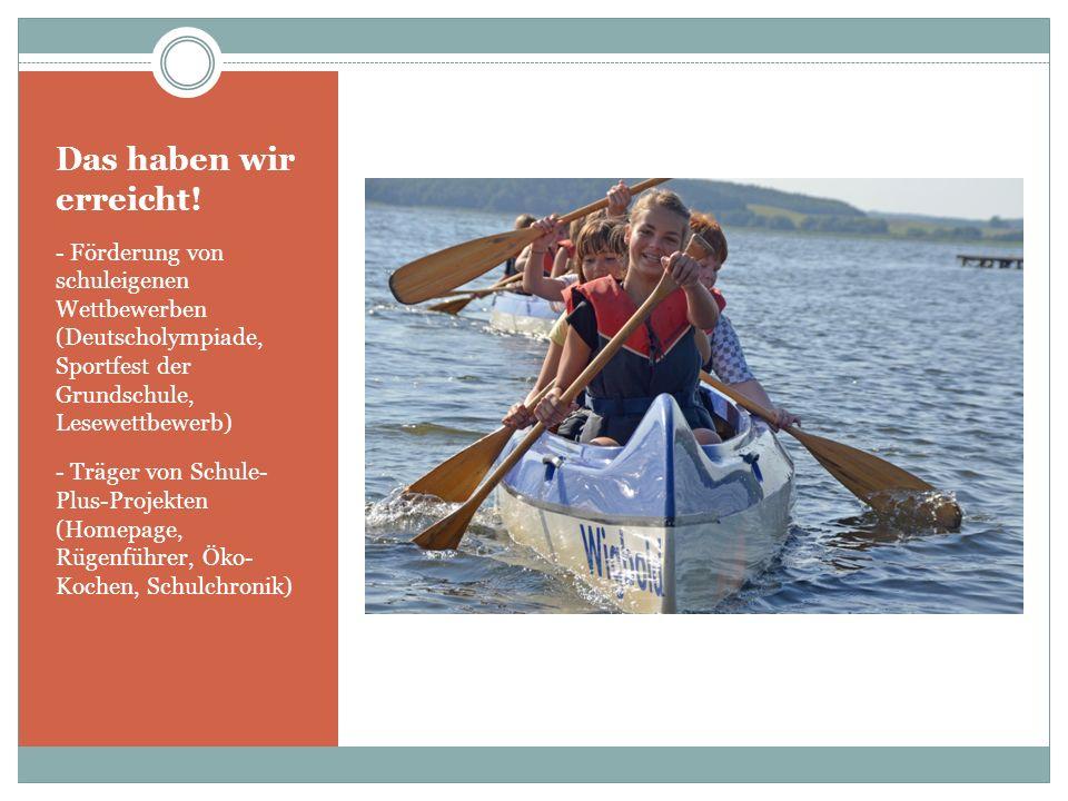 Das haben wir erreicht! - Förderung von schuleigenen Wettbewerben (Deutscholympiade, Sportfest der Grundschule, Lesewettbewerb)