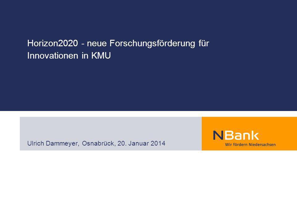 Horizon2020 - neue Forschungsförderung für Innovationen in KMU