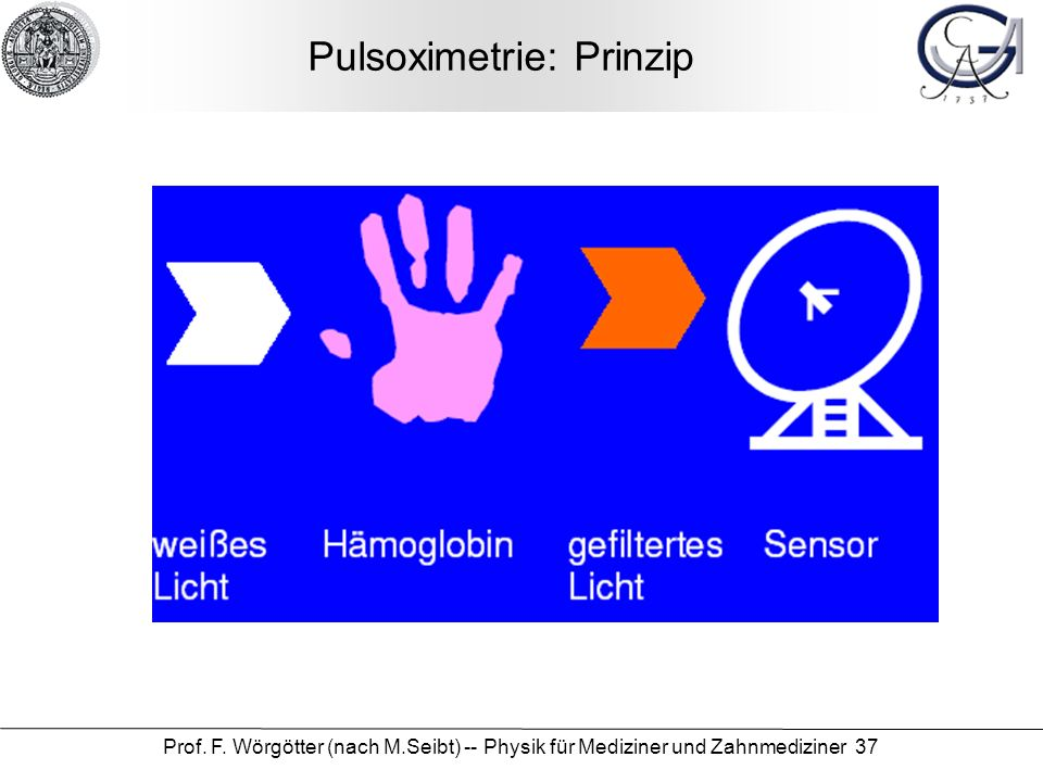 Pulsoximetrie: Prinzip