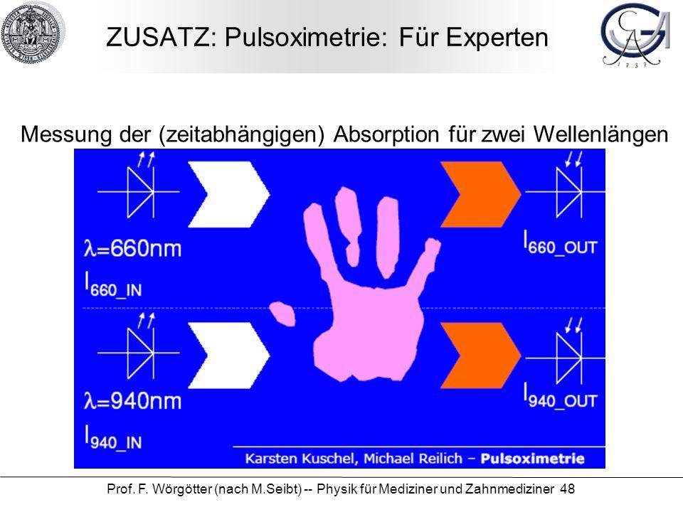 ZUSATZ: Pulsoximetrie: Für Experten