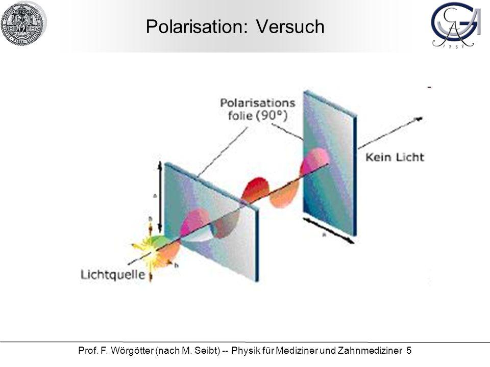Polarisation: Versuch