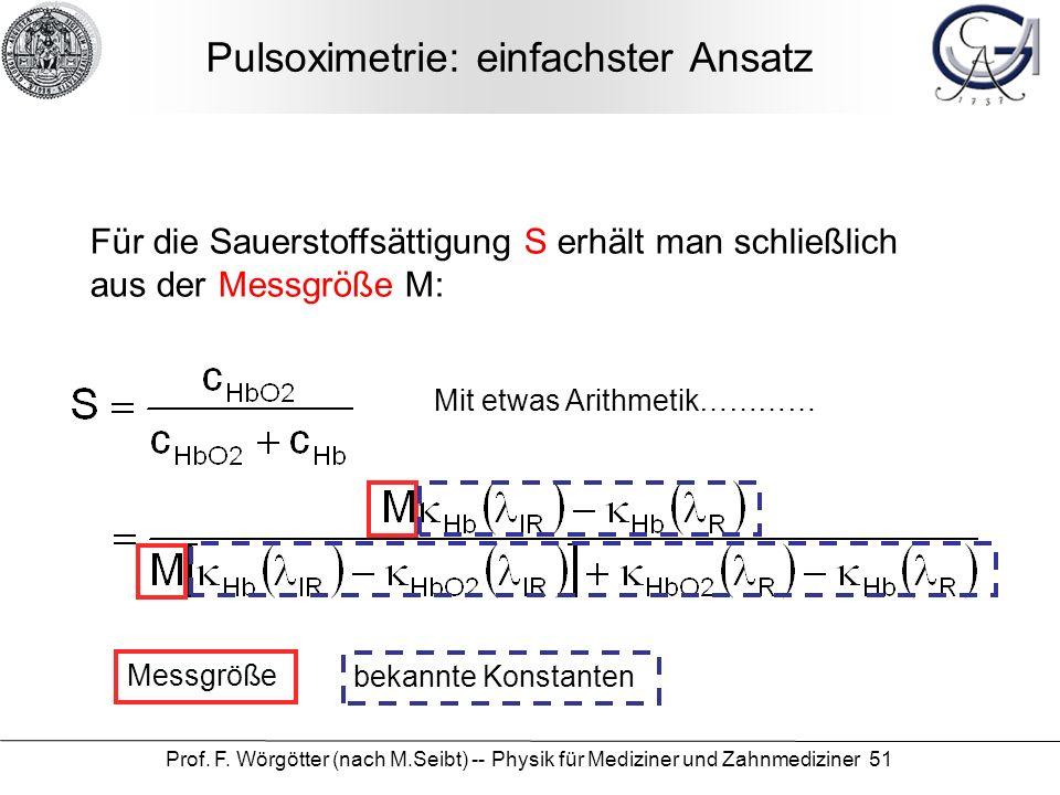 Pulsoximetrie: einfachster Ansatz