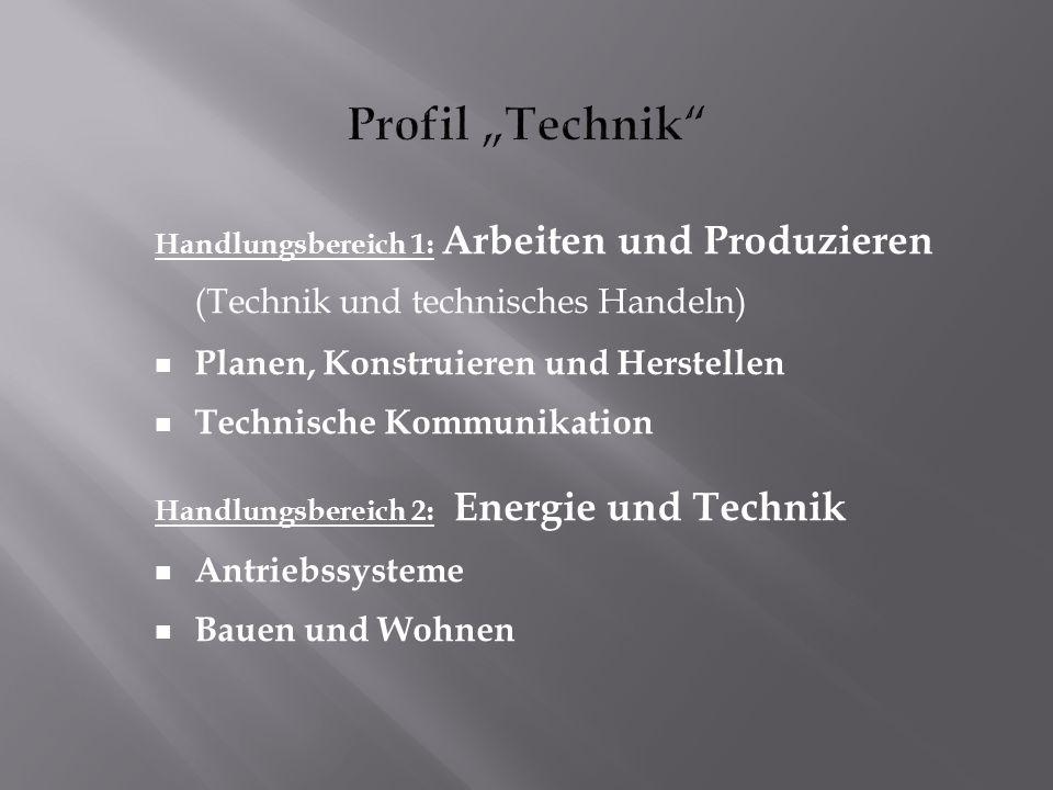 """Profil """"Technik Planen, Konstruieren und Herstellen"""