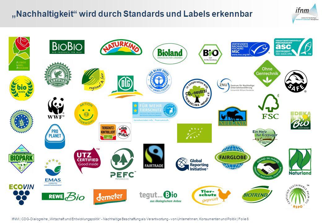"""""""Nachhaltigkeit wird durch Standards und Labels erkennbar"""