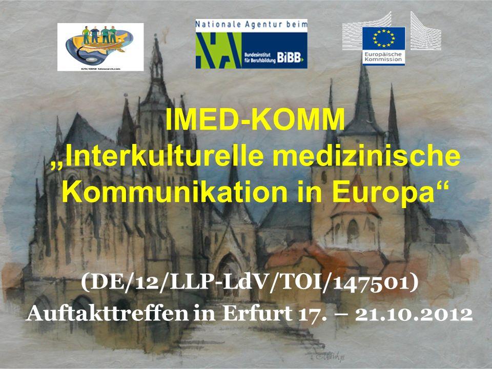 "IMED-KOMM ""Interkulturelle medizinische Kommunikation in Europa"
