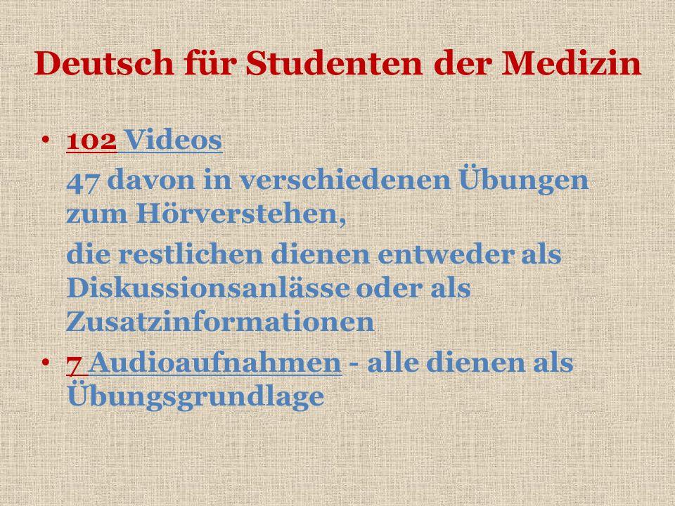 Deutsch für Studenten der Medizin