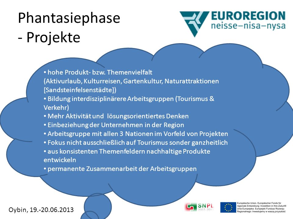 Phantasiephase - Projekte
