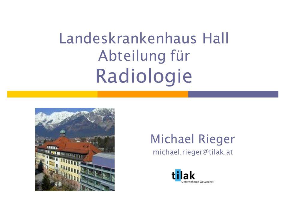 Landeskrankenhaus Hall Abteilung für Radiologie