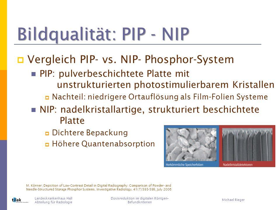 Bildqualität: PIP - NIP
