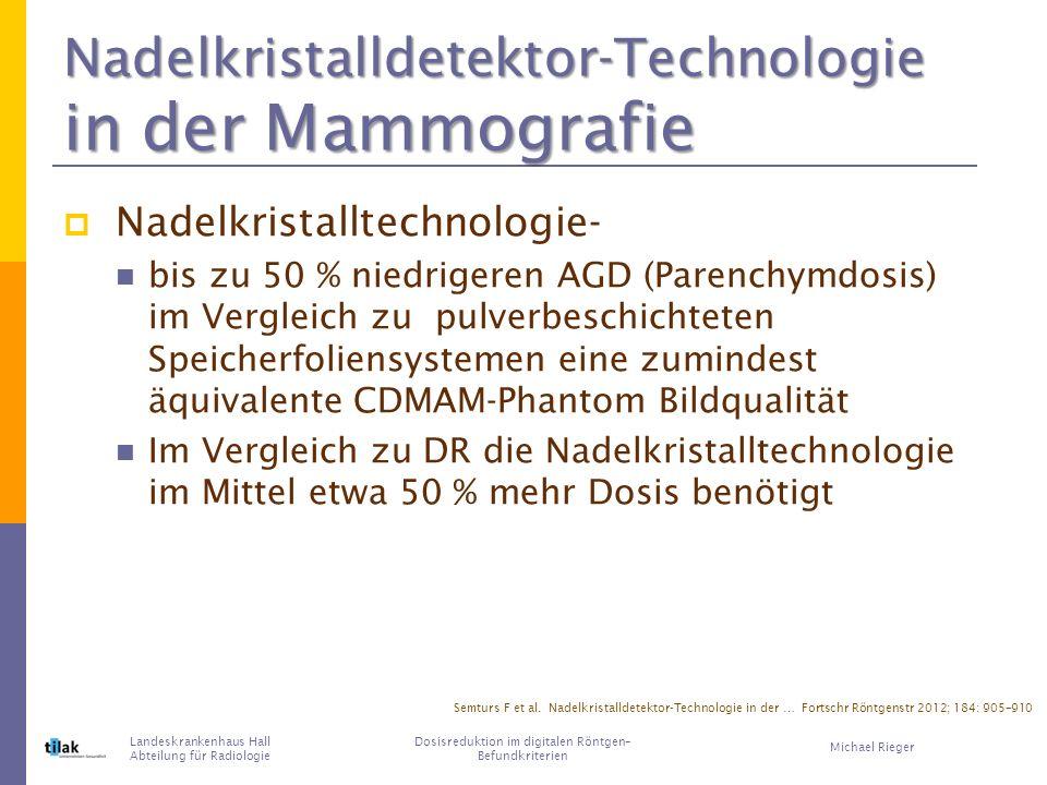 Nadelkristalldetektor-Technologie in der Mammografie