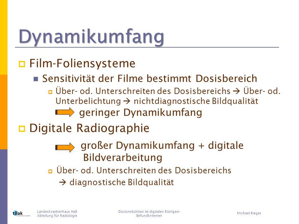 Dosisreduktion im digitalen Röntgen– Befundkriterien