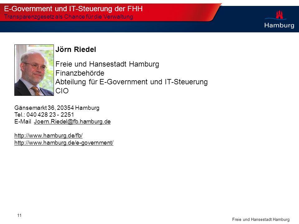 E-Government und IT-Steuerung der FHH