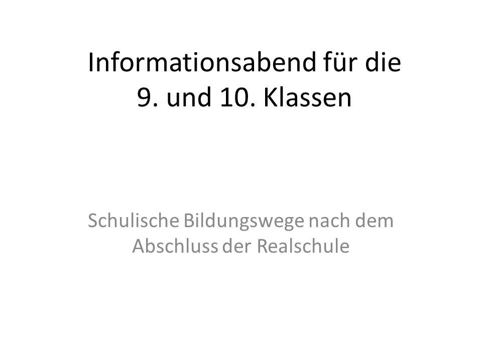 Informationsabend für die 9. und 10. Klassen