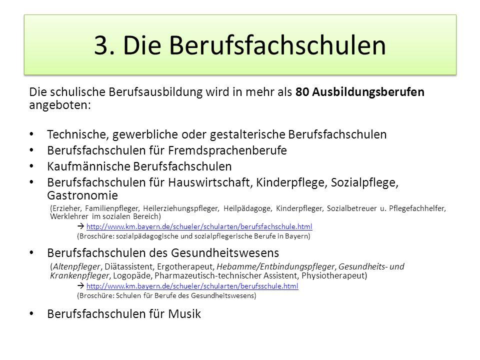 3. Die Berufsfachschulen