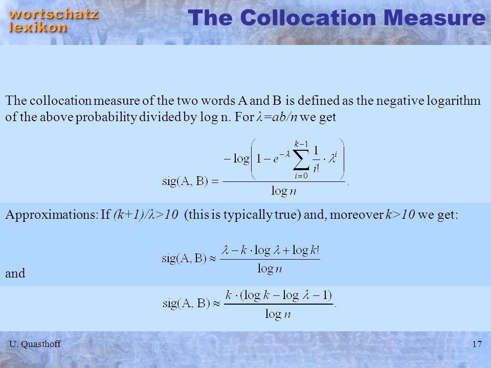 The Collocation Measure
