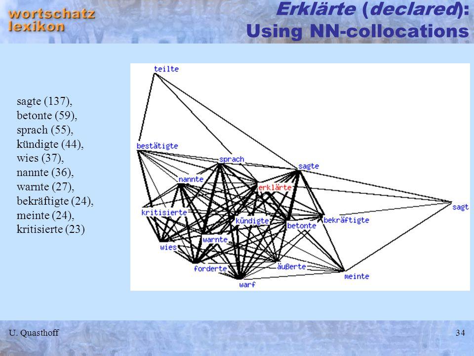 Erklärte (declared): Using NN-collocations