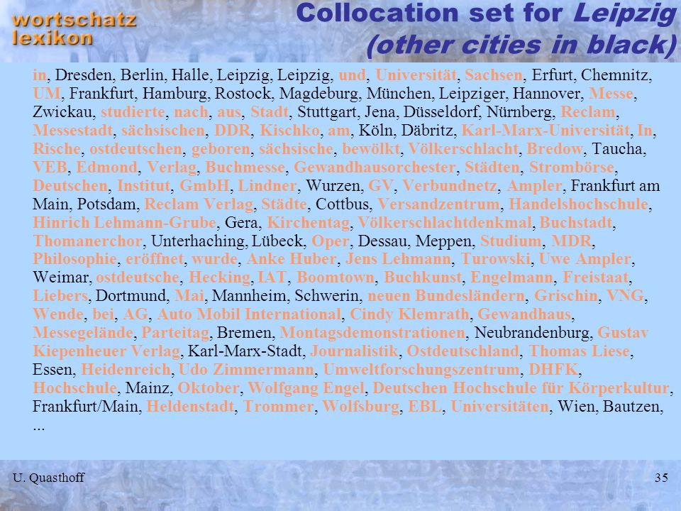 Collocation set for Leipzig (other cities in black)