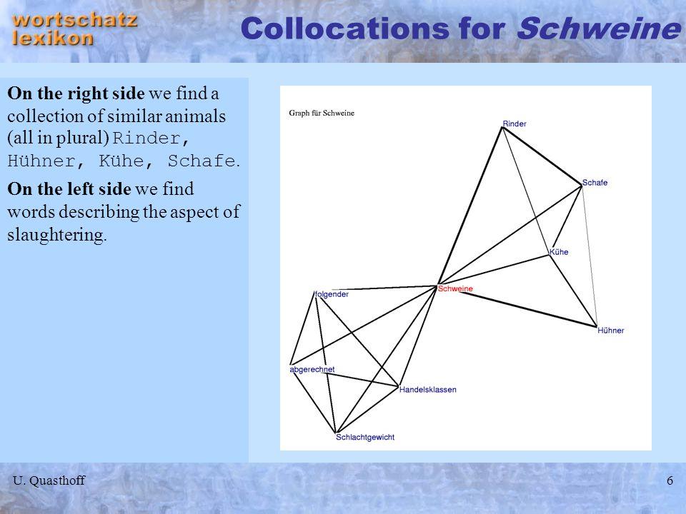 Collocations for Schweine