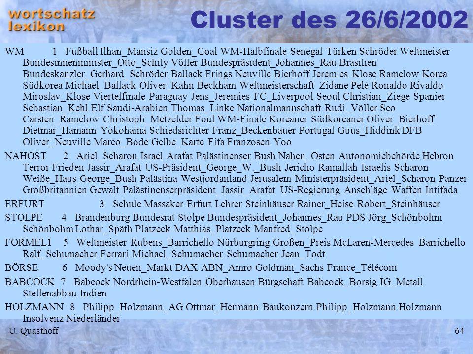 Cluster des 26/6/2002