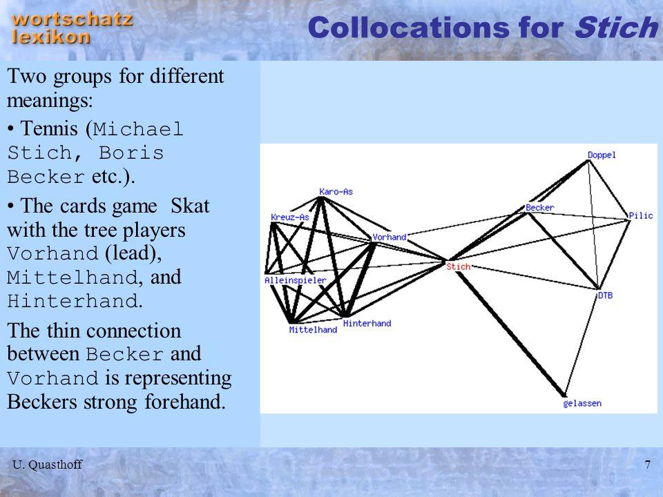Collocations for Stich