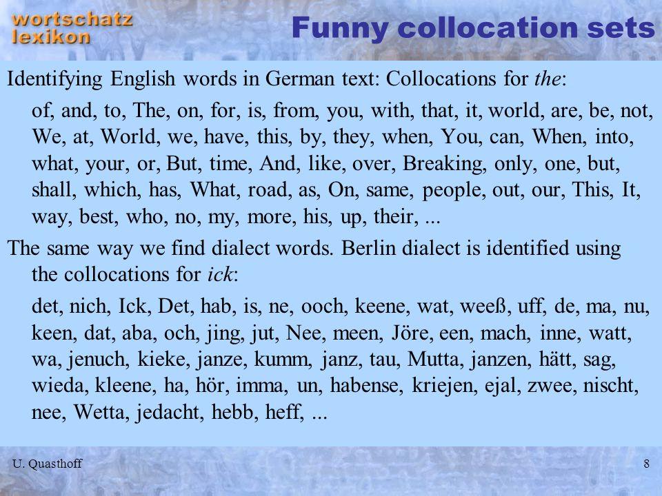Funny collocation sets