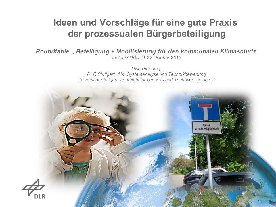 """Roundtable """"Beteiligung + Mobilisierung für den kommunalen Klimaschutz"""