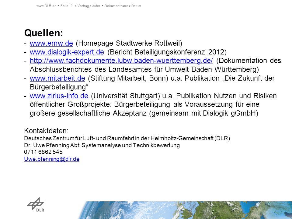 Quellen: www.enrw.de (Homepage Stadtwerke Rottweil)