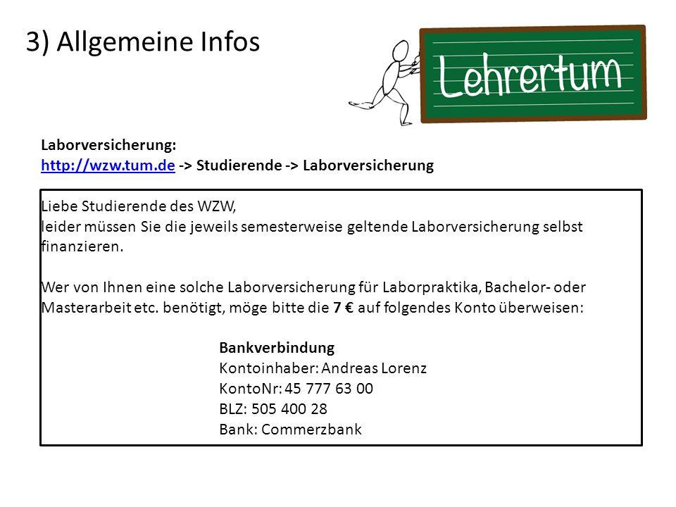 3) Allgemeine Infos Laborversicherung: