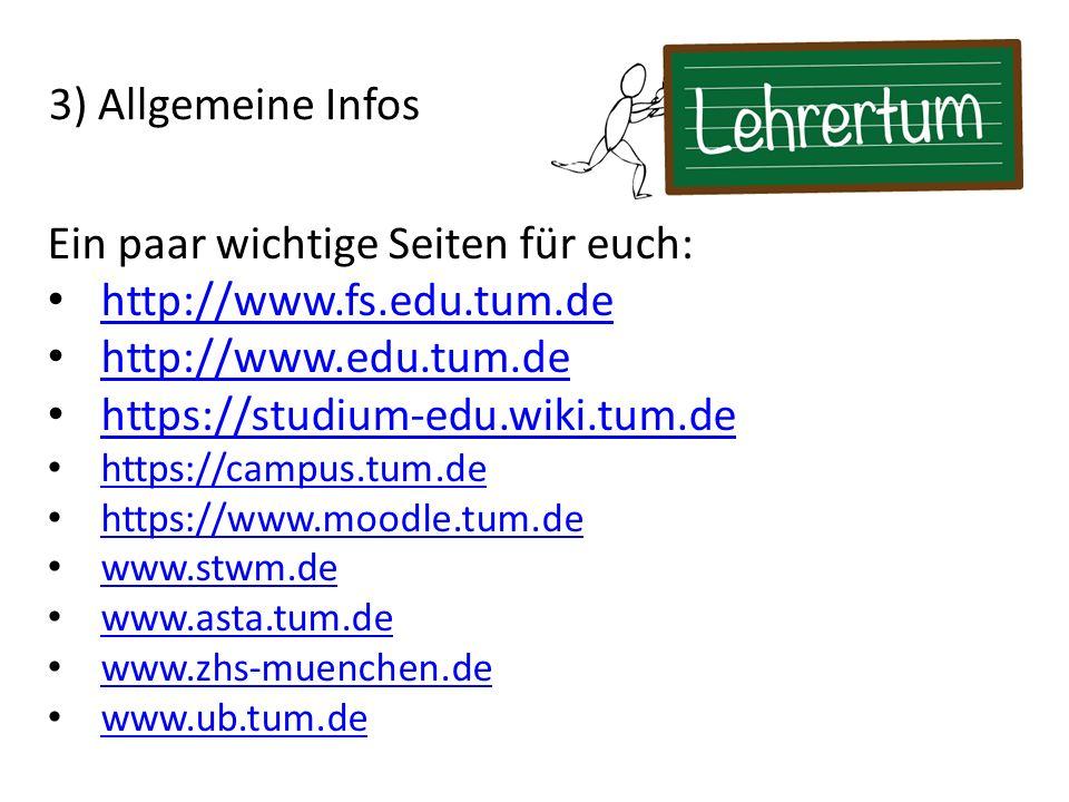 Ein paar wichtige Seiten für euch: http://www.fs.edu.tum.de