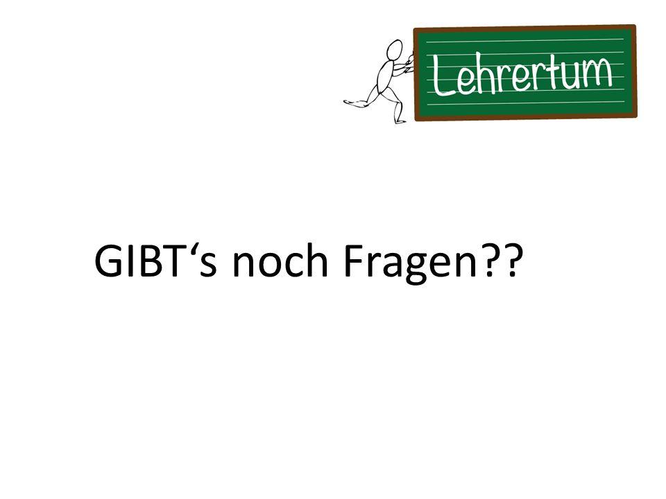 GIBT's noch Fragen