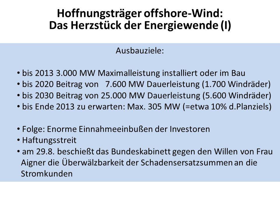 Hoffnungsträger offshore-Wind: Das Herzstück der Energiewende (I)
