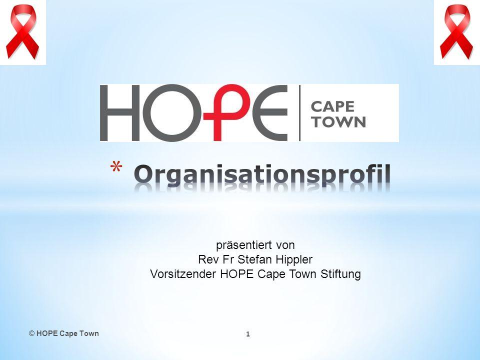 Rev Fr Stefan Hippler Vorsitzender HOPE Cape Town Stiftung