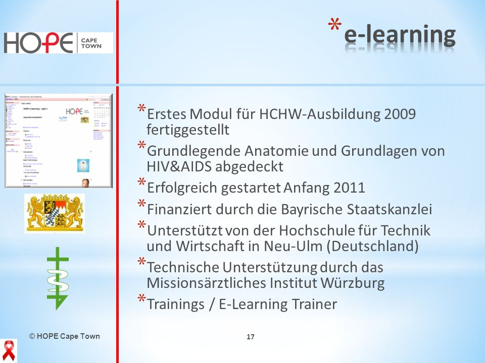 e-learning Erstes Modul für HCHW-Ausbildung 2009 fertiggestellt