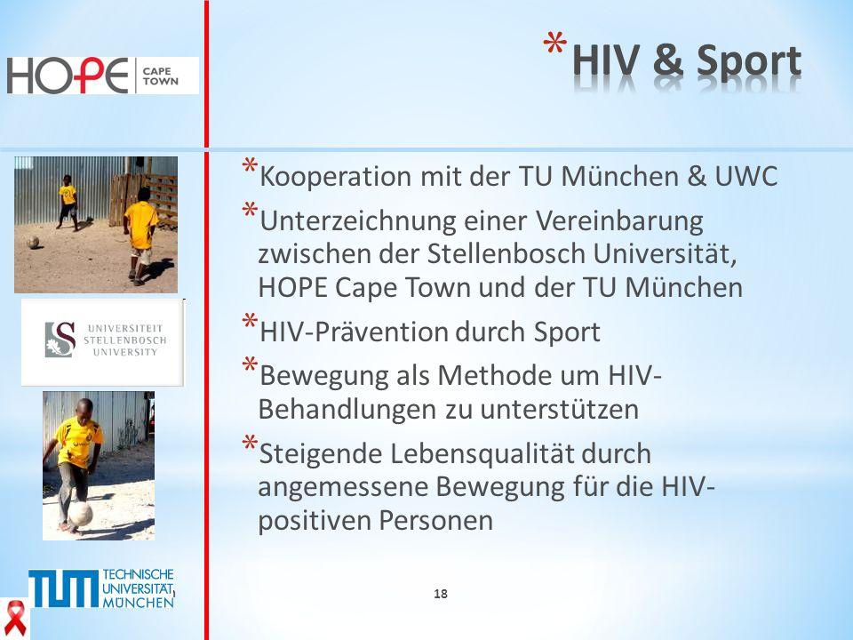 HIV & Sport Kooperation mit der TU München & UWC